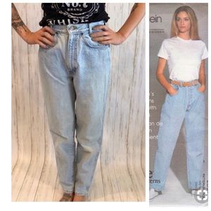 1980s Vintage Chic High Waist White Washed Jeans